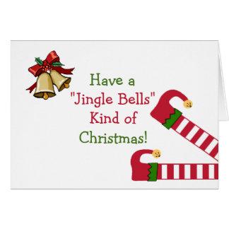 Christmas Greetings With Elf Legs Card