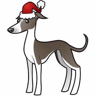Christmas Greyhound / Whippet / Italian Greyhound Photo Sculpture Decoration