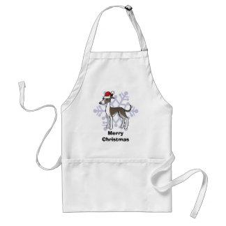 Christmas Greyhound / Whippet / Italian Greyhound Standard Apron