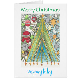 Christmas / Hanukkah card (Christmas up)