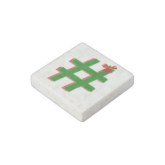 #Christmas #HASHTAG - Hash Tag Symbol Stone Magnet