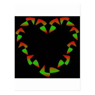 Christmas Heart Post Card
