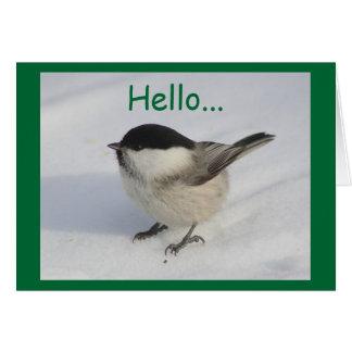 Christmas Hello Greeting Card