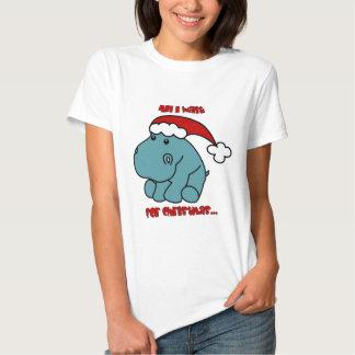 Christmas Hippo Tshirt