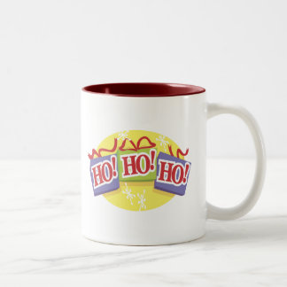 Christmas Ho Ho Ho Two-Tone Coffee Mug