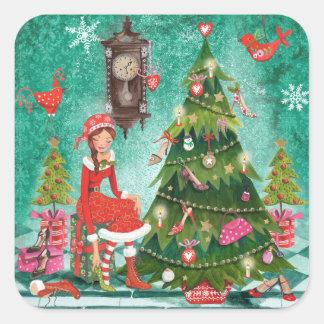 Christmas Holiday girly Tree | Sticker