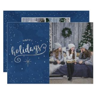 Christmas Holiday - Happy Holidays PHOTOS Card