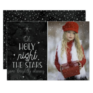 Christmas Holiday - O' Holy Night - PHOTO Card