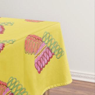 Christmas Holiday Ribbon Candy Xmas Foodie Print Tablecloth