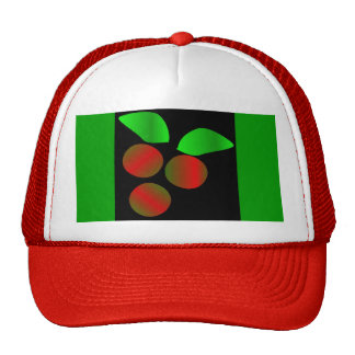 Christmas Holly I In Red Mesh Hats