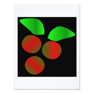 Christmas Holly III 4.25x5.5 Paper Invitation Card
