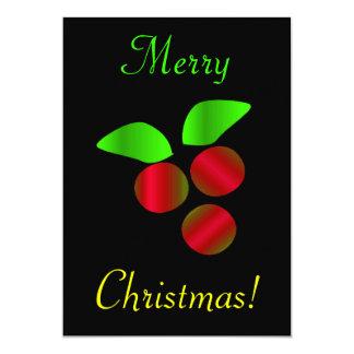 Christmas Holly Invites