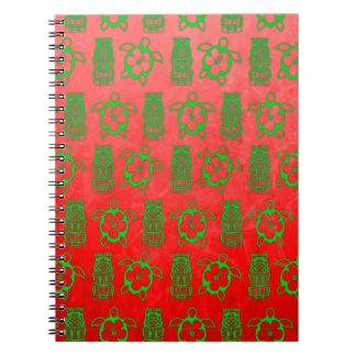 Christmas Honu And Tiki Notebooks