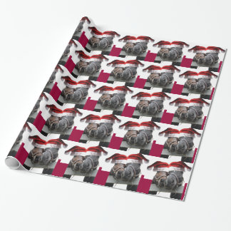 Christmas Horses with Santa Hats Gift Wrapping Paper