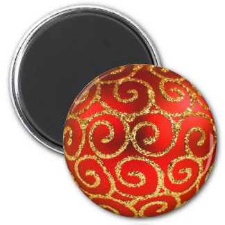 Christmas In Red And Gold Magnet