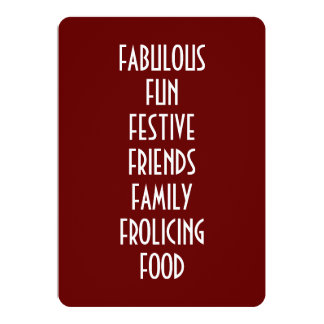 CHRISTMAS INVITATION DEFINES ALL HOLIDAY PARTIES