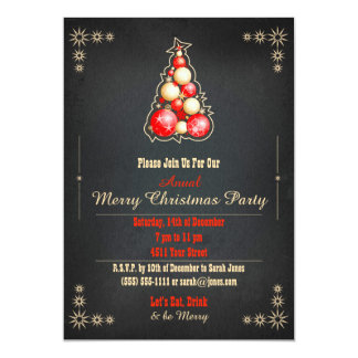 Christmas Invitation Party Dinner Tree DIY