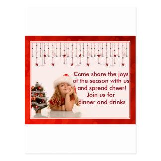Christmas Invitation Postcard