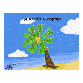Christmas Isle SEAson's Greetings Postcard