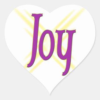 Christmas Joy Heart Sticker