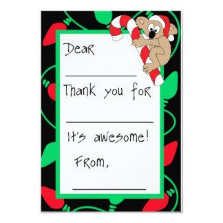 Christmas Koala Fill-in-the-Blank Thank You 9 Cm X 13 Cm Invitation Card