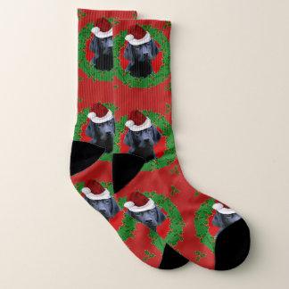 Christmas Labrador Retriever  dog socks 1