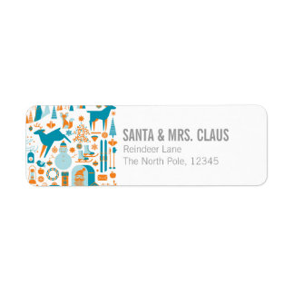 Christmas Landscape 2 Return Address Label