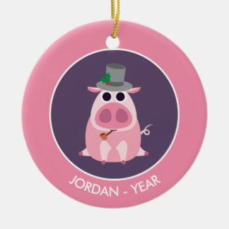 Christmas Leary the Pig Christmas Ornament