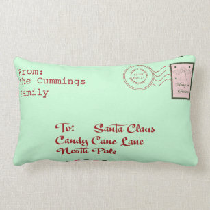 Letter to santa cushions letter to santa scatter cushions zazzle christmas letter to santa claus pillow spiritdancerdesigns Image collections