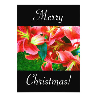 Christmas Lilies 5x7 Paper Invitation Card