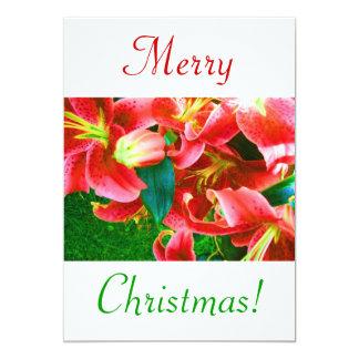 Christmas Lilies III 5x7 Paper Invitation Card