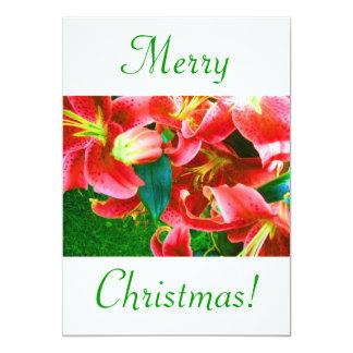 Christmas Lilies V 5x7 Paper Invitation Card