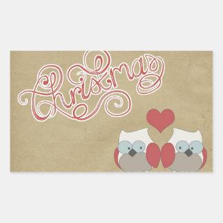 Christmas Love Owls Sticker