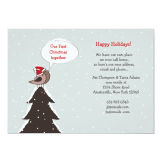 Christmas Lovebirds Holiday Moving Announcement