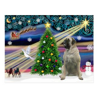 Christmas Magic Bull Mastiff #11 Postcard