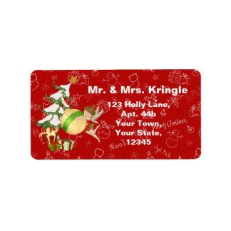 Christmas Magic Fairy Address Label