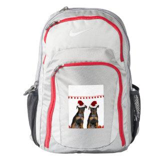 Christmas Miniature Pinscher Backpack