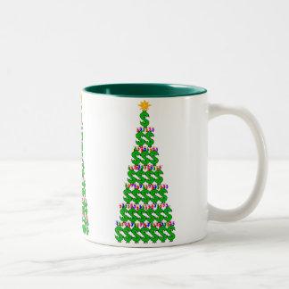 Christmas Money Tree Two-Tone Mug
