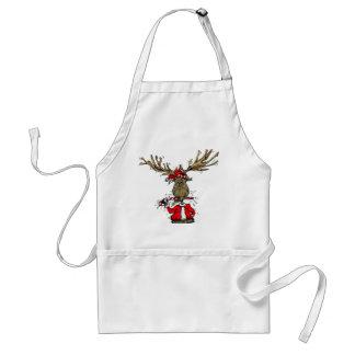 Christmas Moose Standard Apron