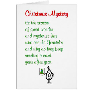 Funny poem christmas greeting cards zazzle christmas mystery a funny merry christmas poem card m4hsunfo