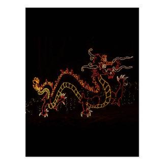 Christmas New Year Dragon  2016 Postcard