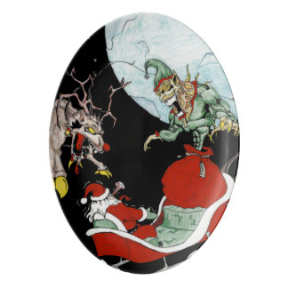 Christmas nightmare Porcelain Serving Platter