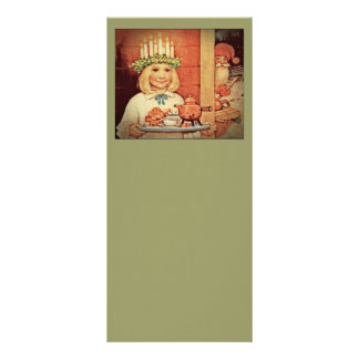 Christmas Nisse and Lucia Day Karin Customized Rack Card
