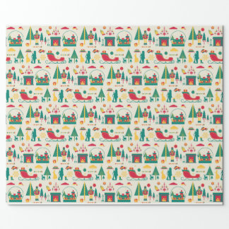Christmas nutcracker wrapping paper