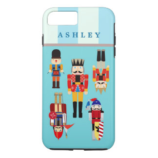 Christmas Nutcrackers Soldiers Personalized Name iPhone 8 Plus/7 Plus Case