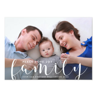 Christmas or New Years Happy Holiday Family Photo Card