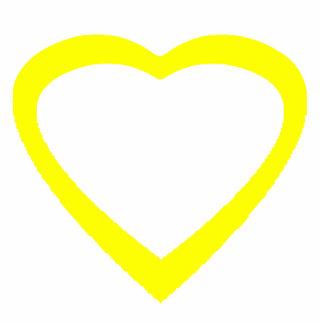 Christmas Ornament Open Heart Yellow Photo Sculpture