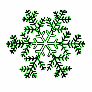 Christmas Ornament Snowflake 2 Green Acrylic Cut Out