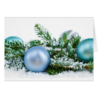Christmas ornaments note card