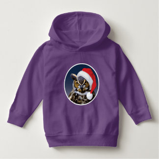 Christmas Owl - Toddler Pullover Hoodie